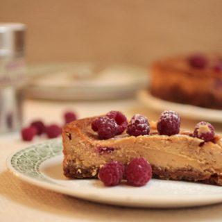 Caramelized White Chocolate Raspberry Cheesecake  #SundaySupper