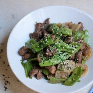 FIVE SPICE GINGER HONEY PORK WITH GREEN BEANS