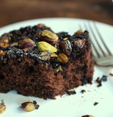 Chocolate Pistachio Coffee cake