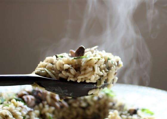 Mushroom Scallion Risotto