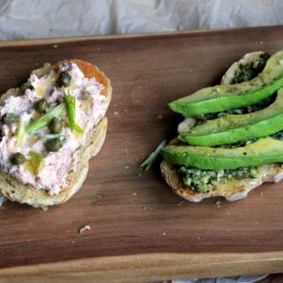 Stuff on Toast: Smoked Salmon Spread + Cilantro Pesto Avocado