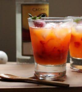 strawberry passion fruit caipirinha