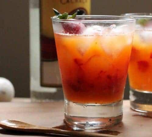 Strawberry and Passion Fruit Caipirinha