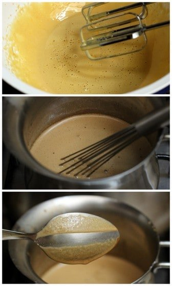 Making the coffee infused custard for espresso ice cream