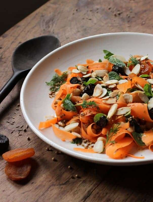 Moroccan Carrot, Chickpea, Dried Fruit and Almond Salad – a guest post at Maroc Mama