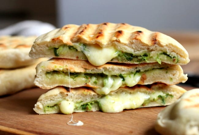 Mozzarella and Pesto Grilled Naan Bread #TwelveLoaves