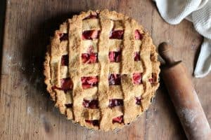 Raspberry Apple Crostata Pie