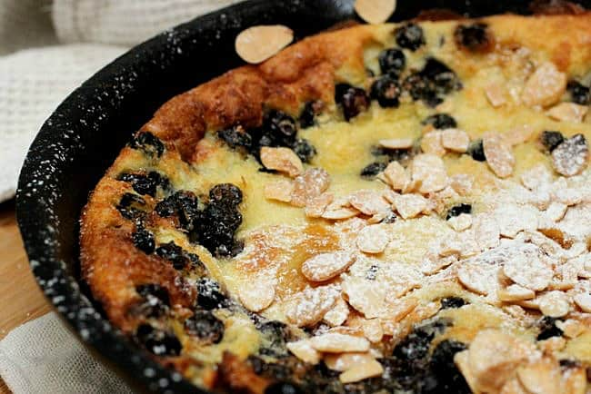 White Chocolate Blueberry Dutch Pancake