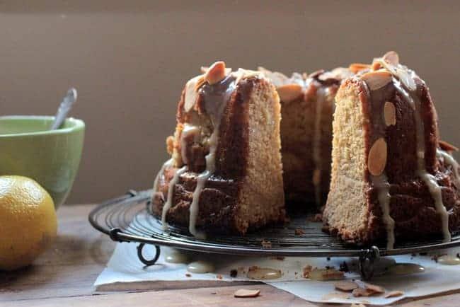 Lemon Frangipane Bundt Cake #BundtaMonth