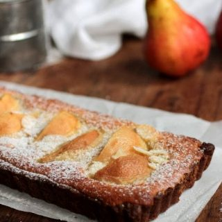 Pear Almond Graham Cracker Tart