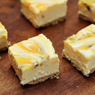 Passion Fruit Lemon No Bake Cheesecake with Brown Butter Crust