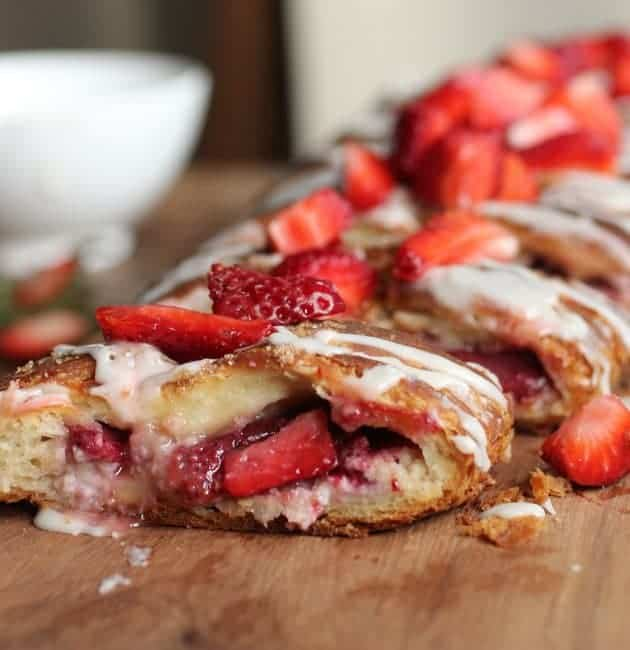 Strawberry Lime Almond Danish Braid