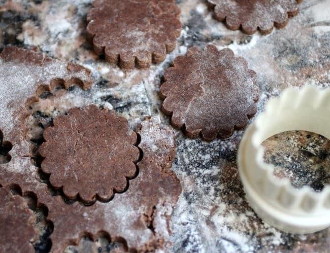 brown butter chocolate tart dough cookies