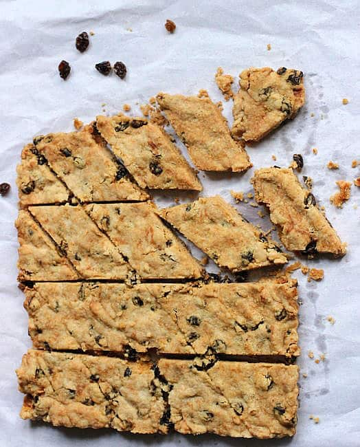 Old Fashioned Raisin Shortbread