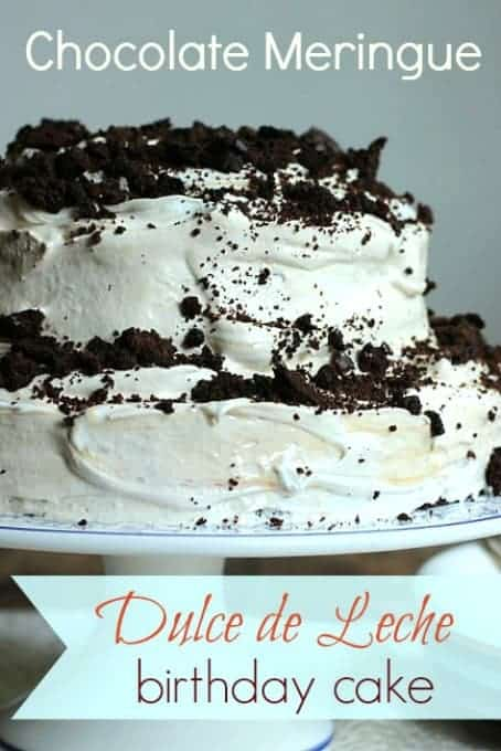Chocolate Meringue Dulce de Leche Birthday Layer Cake