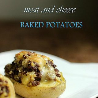 Double Baked Meat and Cheese Potatoes #SRC