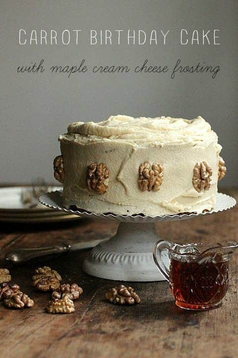 Carrot Birthday Cake with Maple Cream Cheese Frosting Vintage Kitchen