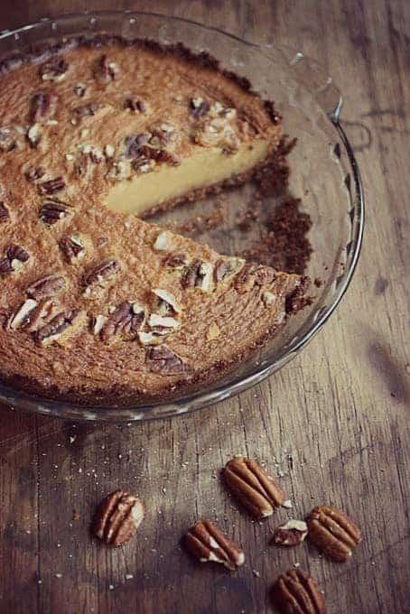 Sweet Potato Pecan Gingersnap Pie