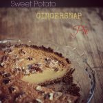sweet potato gingersnap pie