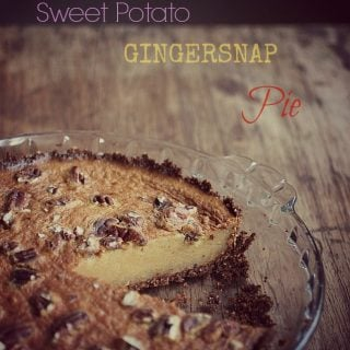 Sweet Potato Pecan Gingersnap Pie