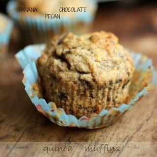 Banana Chocolate Pecan Quinoa Muffins – Gluten Free