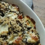 Roasted Butternut Squash with Spicy Wild Rice and Queso Fresco