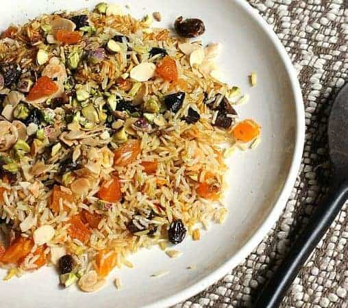 Persian Jeweled Rice  #SundaySupper
