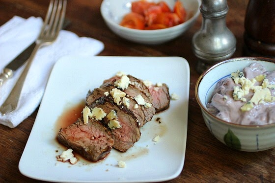 Creamy Blue Cheese Mushroom Red Wine Steak + Best Recipes of 2013