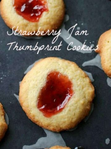 Strawberry Jam Thumbprint Cookies
