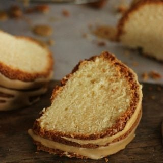 Brown Butter Cake with Coffee Glaze