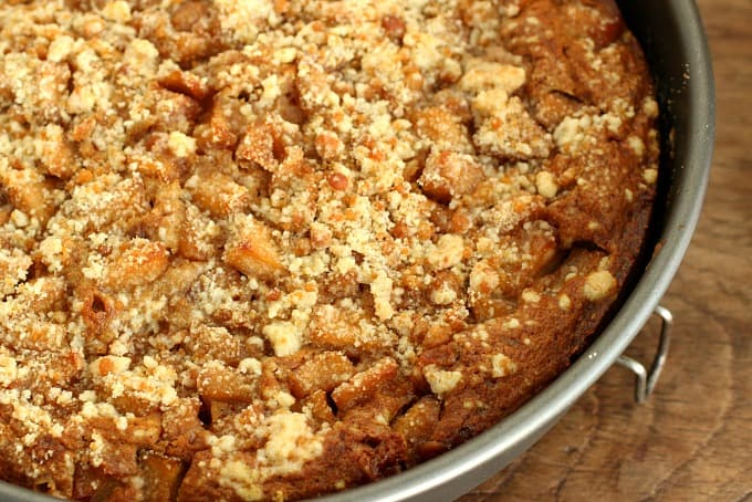 Pumpkin Apple Crumble Cake