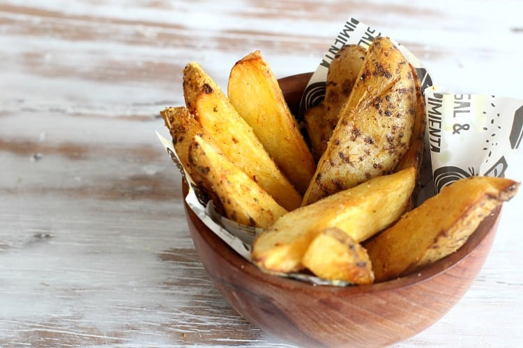 spicy baked potato wedges
