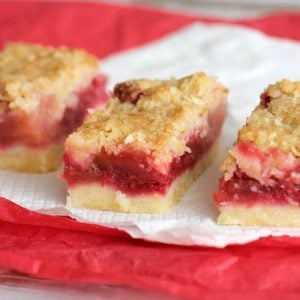 Raspberry Apple bars with crumble topping