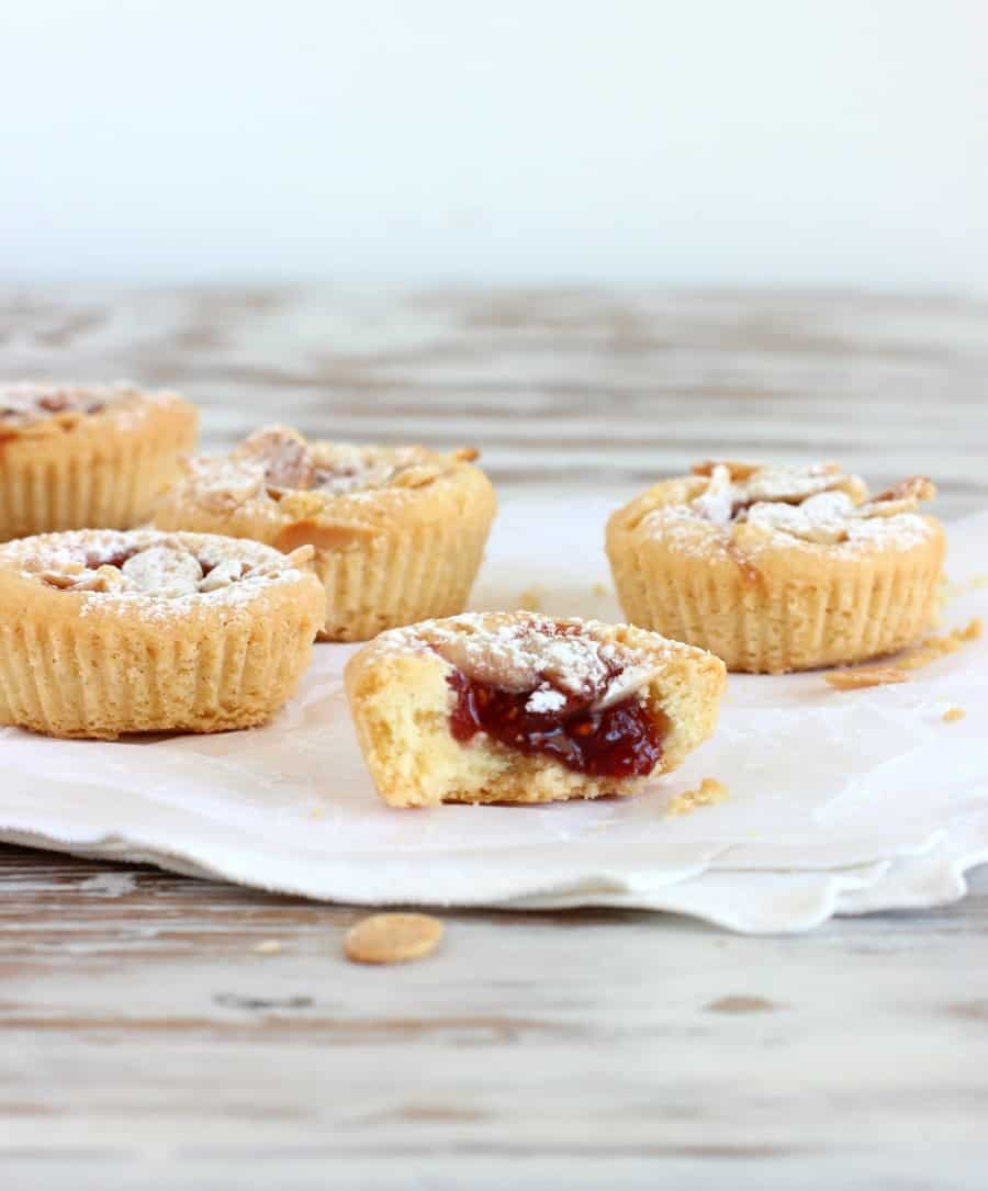 Scandinavian raspberry jam cakes