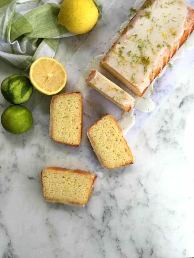 Amazing lemon lime yogurt cake