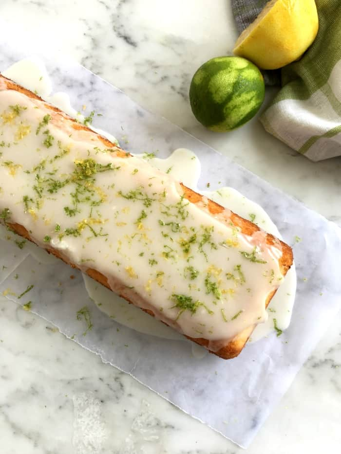 Easy lemon lime yogurt cake
