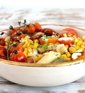 Roasted Corn Tomato Pasta Bowl