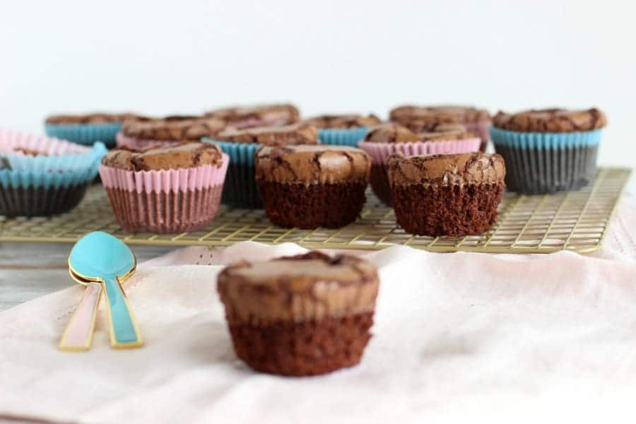 Fudgy one bowl brownie muffins
