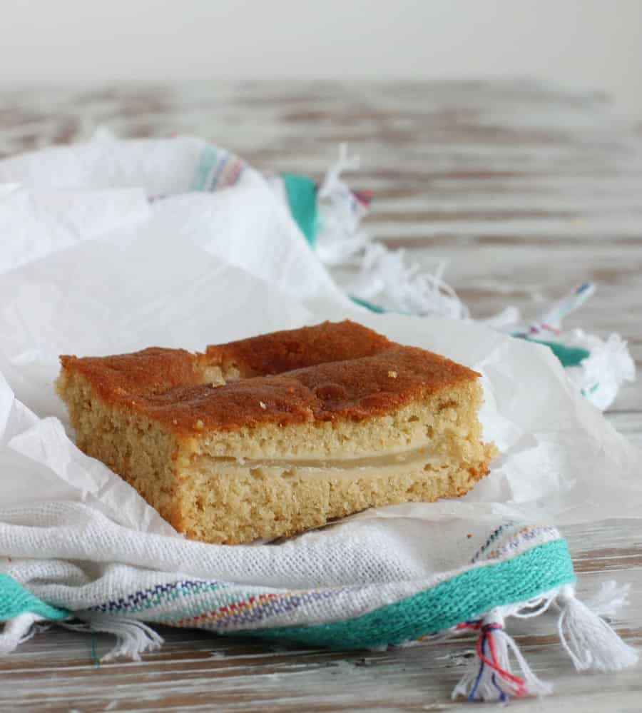 Pear sour cream coffee cake