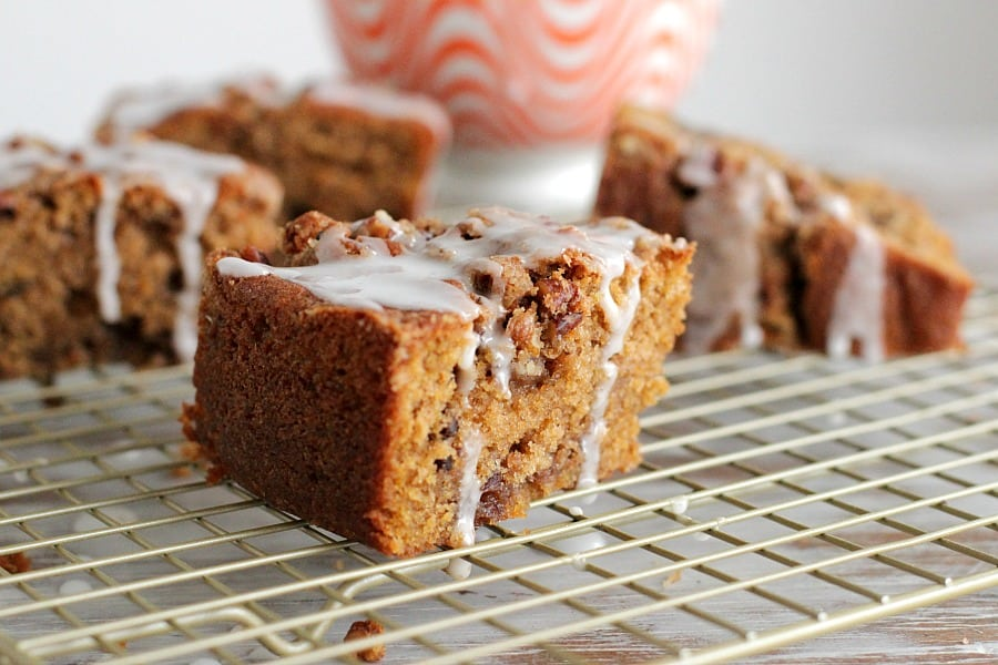 PUMPKIN COFFEE CAKE WITH WALNUT CINNAMON STREUSEL
