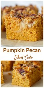 Pumpkin sheet cake Collage with text
