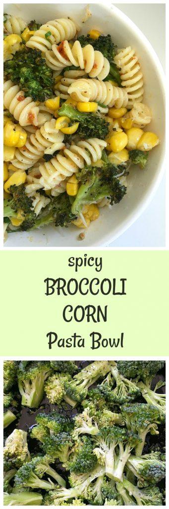 broccoli harissa easy pasta bowl image collage