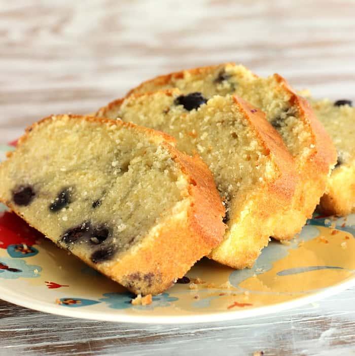 Lemon blueberry loaf cake