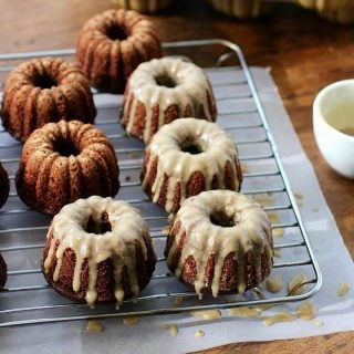 Chocolate Kahlua Mini Bundt Cakes