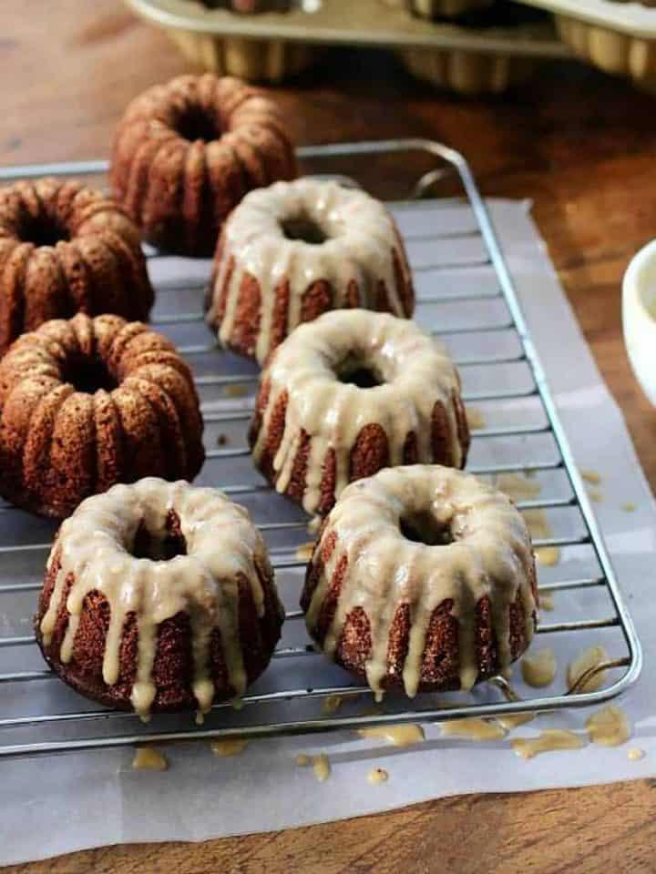 Easy chocolate kahlua bundt cakes