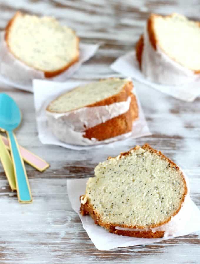 Poppy seed and vanilla cake