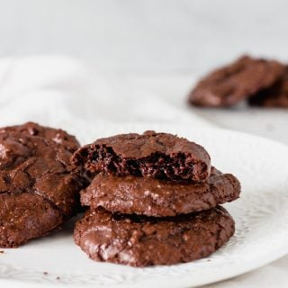 brownie cookies on white plate