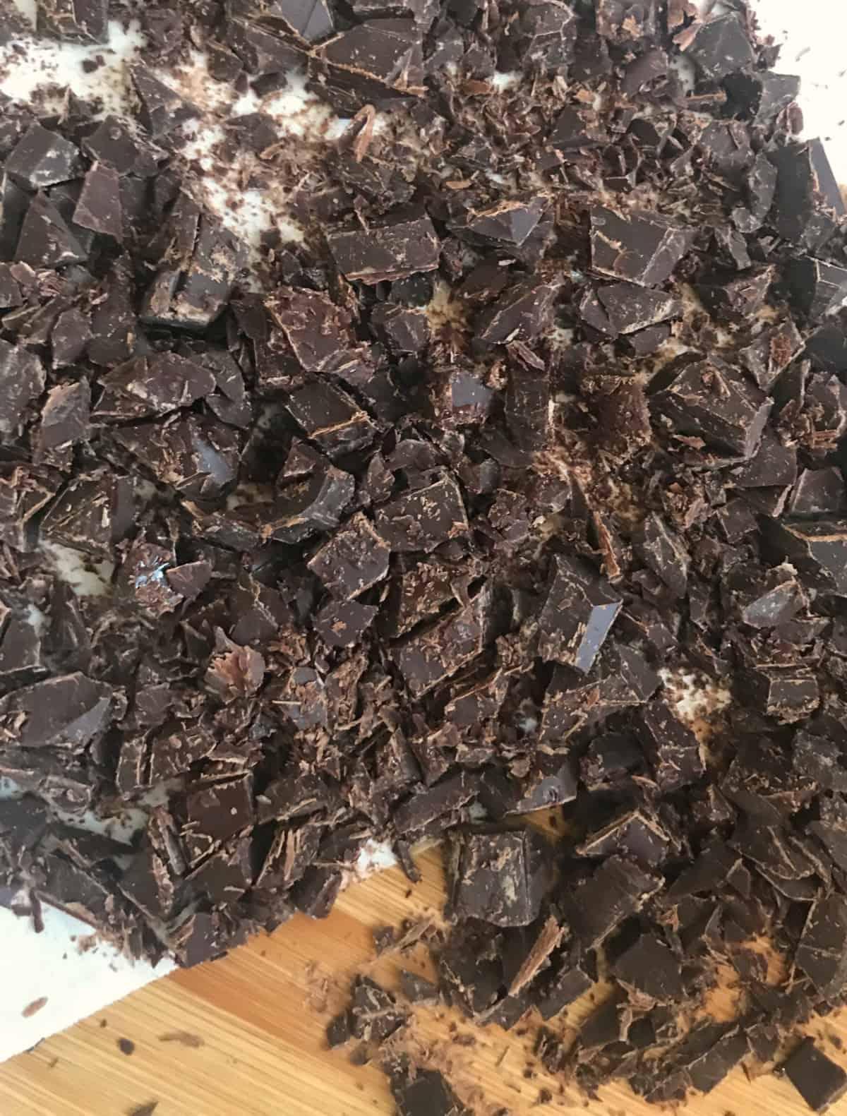 chopped semi sweet chocolate