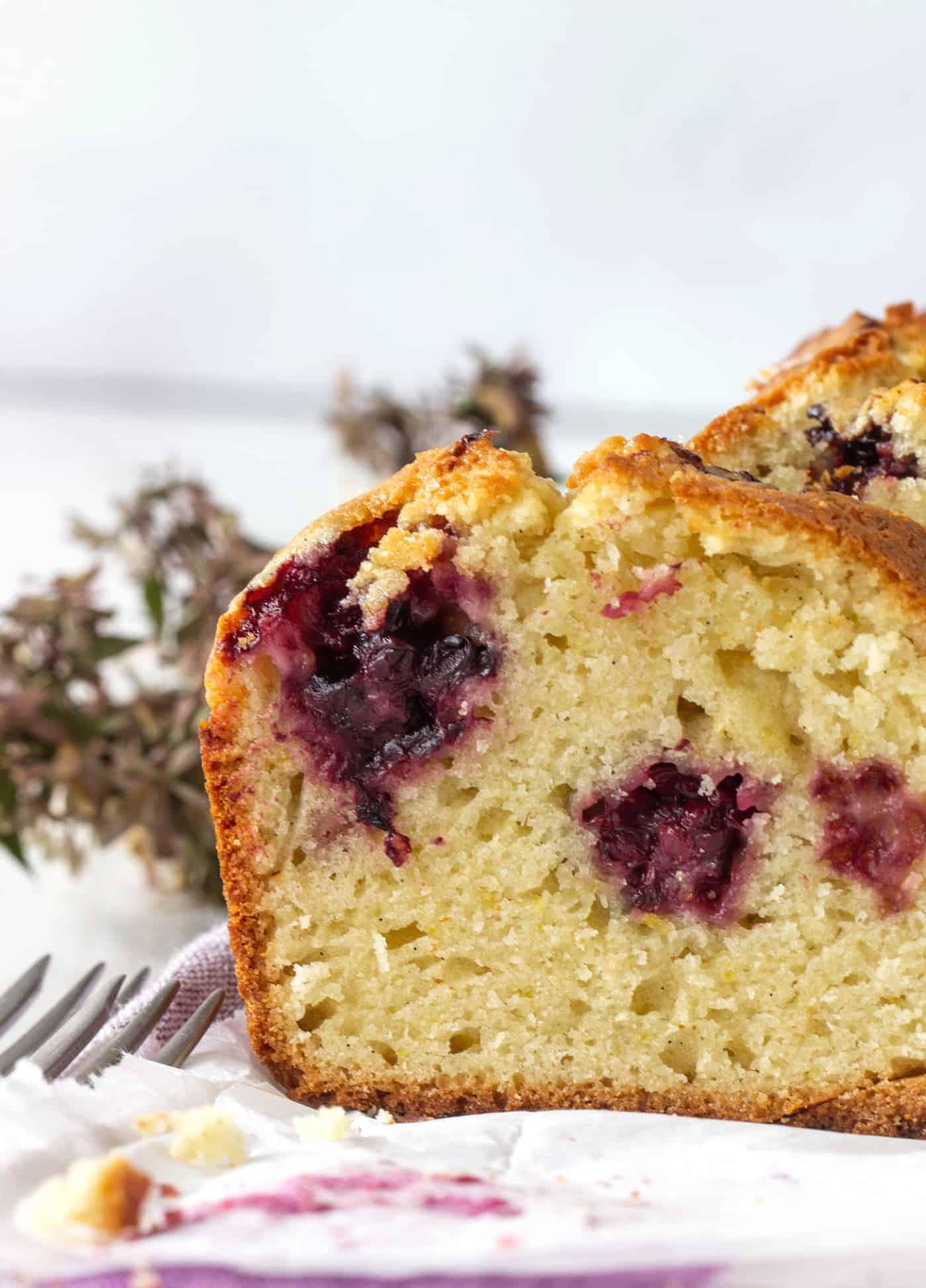 Orange blackberry muffin cake