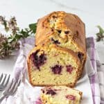 Orange blackberry loaf cake
